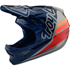 Troy Lee Designs D3 Fiberlite Casco, silhouette navy/silver